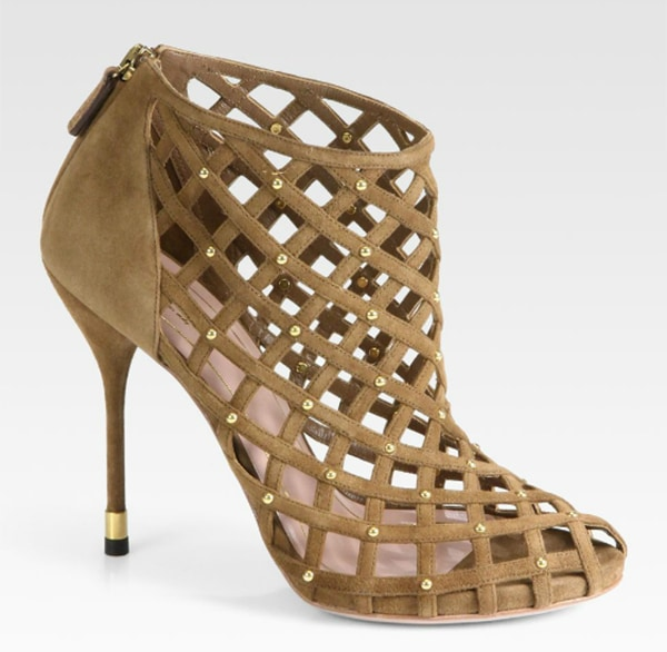 """Gucci """"Isabel"""" Booties in Brown"""