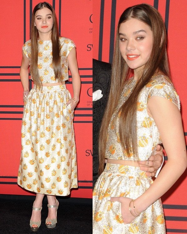 Hailee Steinfeld attends the 2013 CFDA Awards