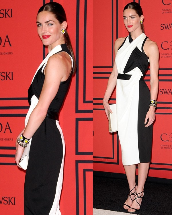 Hilary Rhoda attends the 2013 CFDA Awards