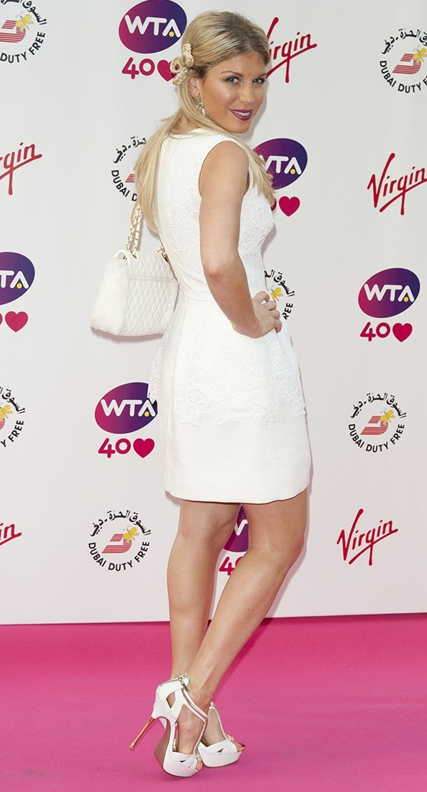 Hofit Golan parades her long legs at the pre-Wimbledon party