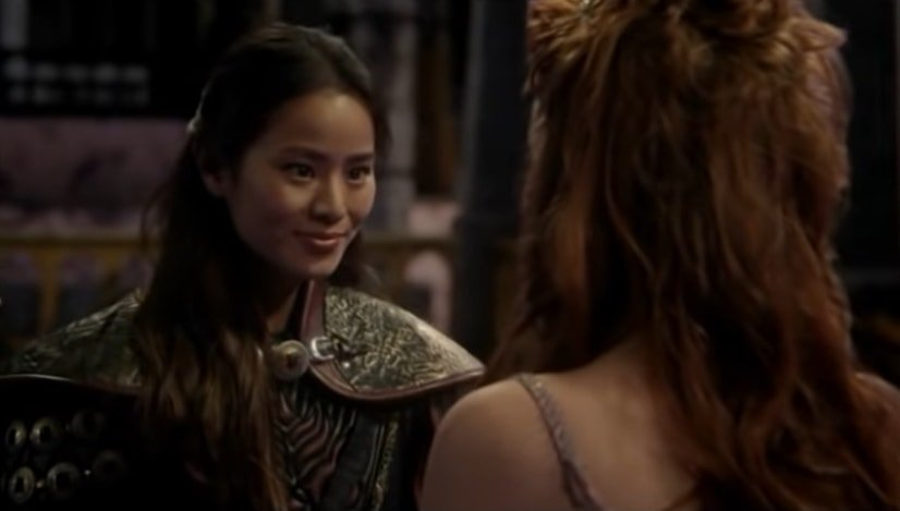 """In """"Quite a Common Fairy,"""" the third episode of Season Three of ABC's Once Upon a Time, Jamie Chung as Hua Mulan almost reveals that she is in love with Princess Aurora"""