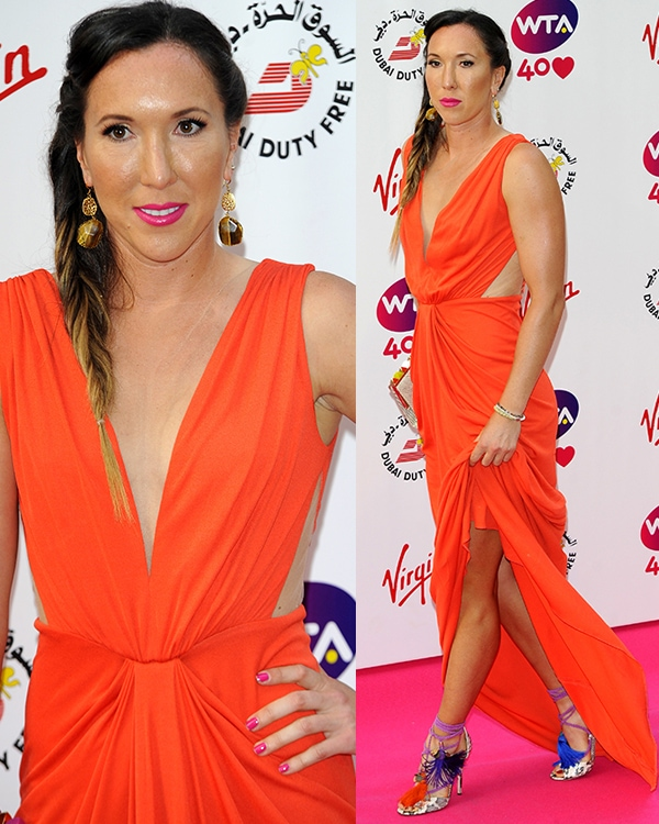 Jelena Jankovic at the pre-Wimbledon party held at Kensington Roof Gardens in London on June 20, 2013