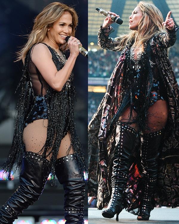 Jennifer Lopez performs at The Sound of Change Live concert at Twickenham Stadium
