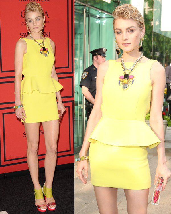 Jessica Stam attends the 2013 CFDA Awards