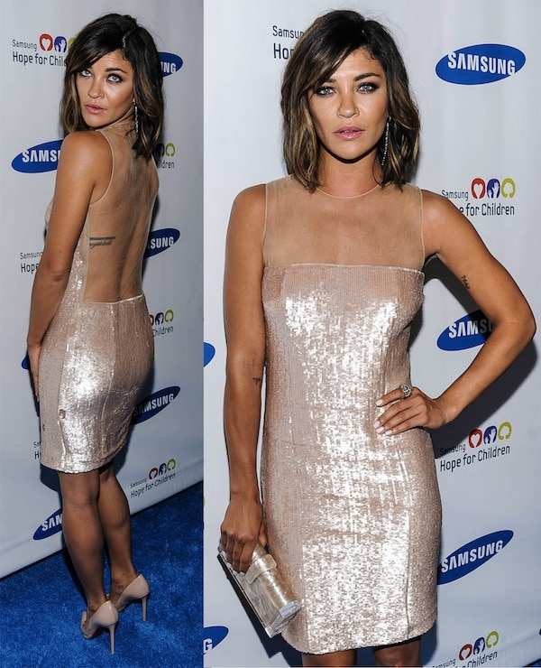 Smoking hot and stylish Jessica Szohr at the Samsung Hope for Children Gala in New York City on June 11, 2013