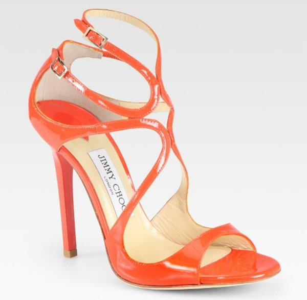 Jimmy Choo Lance Tangerine Sandals