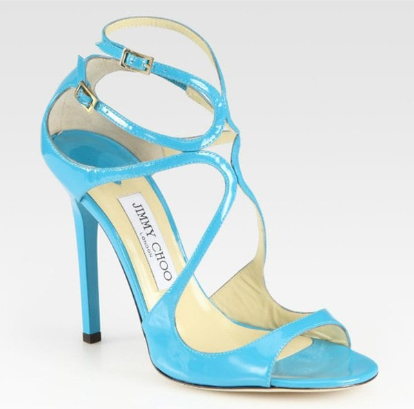 Jimmy Choo Lance Turquoise Sandals