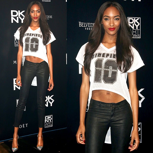 Jourdan Dunn DKNY artworks launch