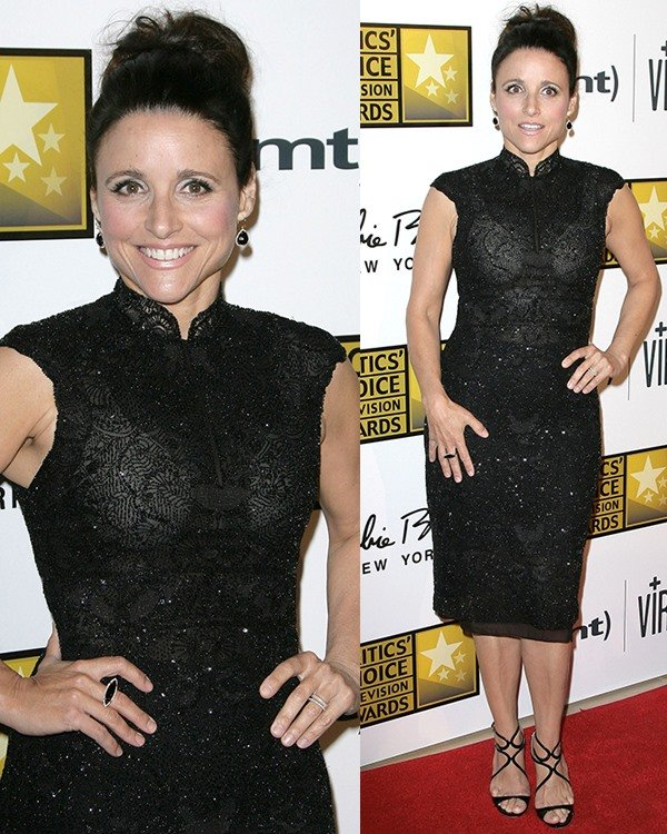 Julia Louis-Dreyfus at Broadcast Television Journalists Association's (BTJA) 3rd Annual Critics' Choice Television Awards held at the Beverly Hilton Hotel in Los Angeles on June 10, 2013