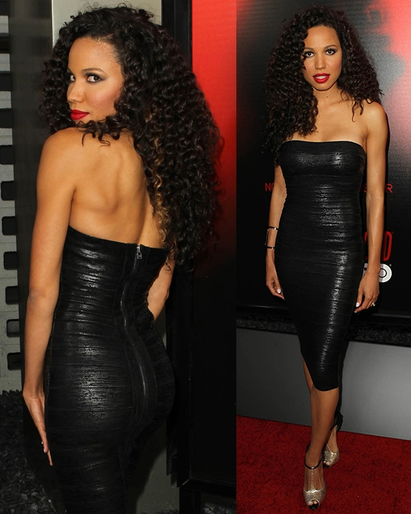 Jurnee Smollett attends the premiere of HBO's True Blood at ArcLight Cinemas Cinerama Dome