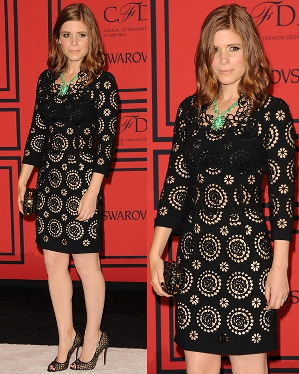 Kate Mara attends the 2013 CFDA Awards