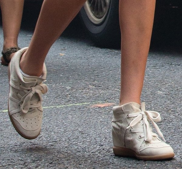 A closer look at Kate's street chic Isabel Marant 'The Bobby' wedge sneakers