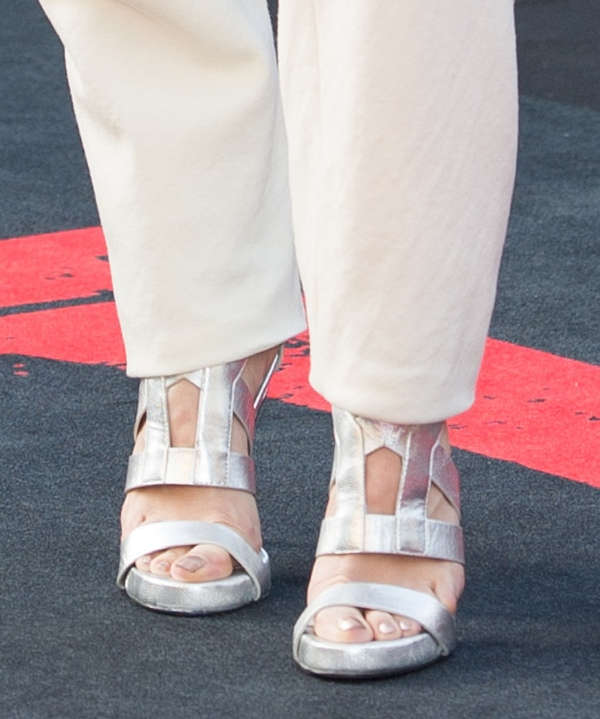 Kimberly Wyatt insandals featuring double ankle straps with zip fastening at the back