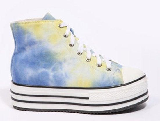 Kimchi Blue Tie Dye Canvas Platform Shoes
