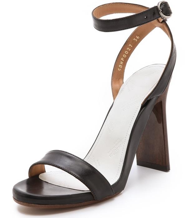 Maison Martin Margiela Wood Grain Heel Sandals