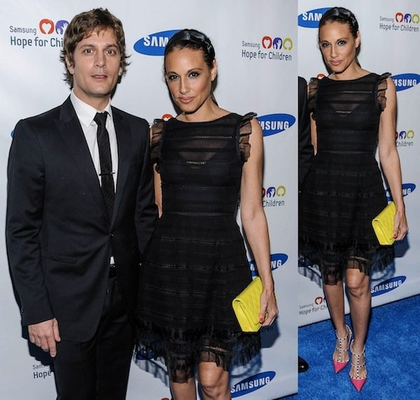 Marisol Thomas looking fabulous on her own but deserving of extra points for her arm candy, Rob Thomas, at the Samsung Hope for Children Gala in New York City on June 11, 2013