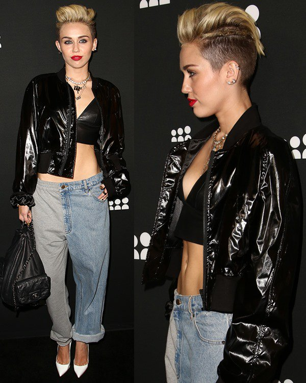 Miley Cyrus attends the Myspace artist showcase event