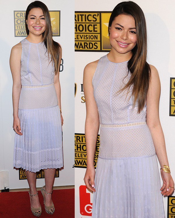 Miranda Cosgrove at Broadcast Television Journalists Association's (BTJA) 3rd Annual Critics' Choice Television Awards held at the Beverly Hilton Hotel in Los Angeles on June 10, 2013