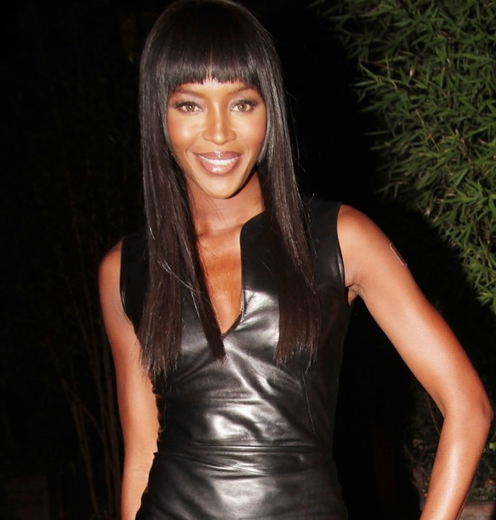 Naomi Campbell leaving an after-party held at the Green House Restaurant in London on September 26, 2013