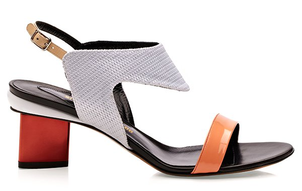 Nicholas Kirkwood Colorblock Orange/Cream Sandals