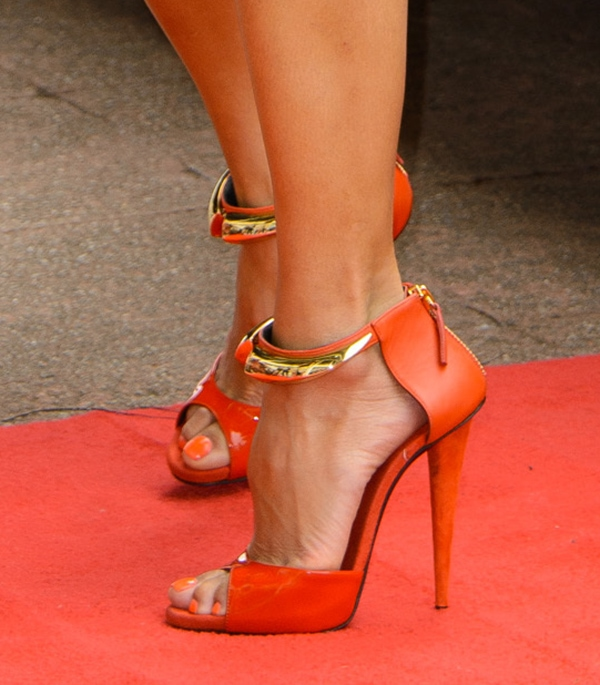 Nicole Scherzinger's sexy toes peeping out of her red-hot shoes