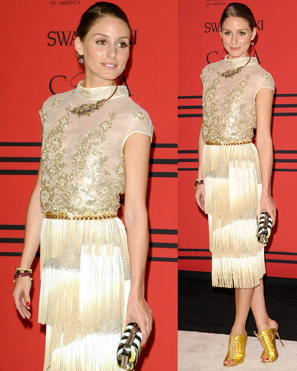 Olivia Palermo flashed her legs at the 2013 CFDA Awards