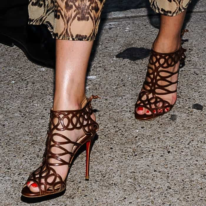 Olivia Palermo wears Christian Louboutin 'Zigouwi' sandals