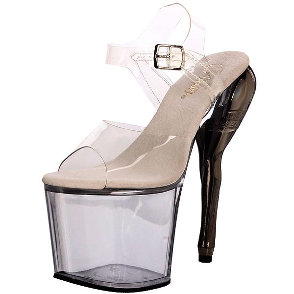 Pleaser Vixen Platforms in Clear