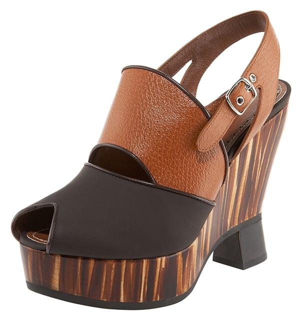Proenza Schouler Striped Wedge Sandals