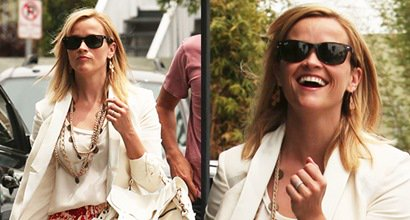 Reese Witherspoon Wears Wide Strap Chlo 233 Bicolor Sandals