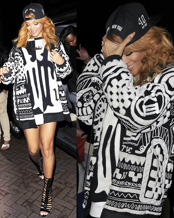 Rihanna back at her hotel in Amsterdam after her performance at the Ziggo Dome in Amsterdam on June 24, 2013