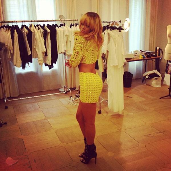 Rihanna Balmain Paris1