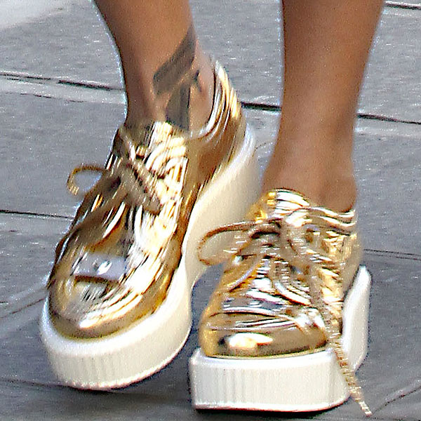 Metallic Gold Chanel Creepers