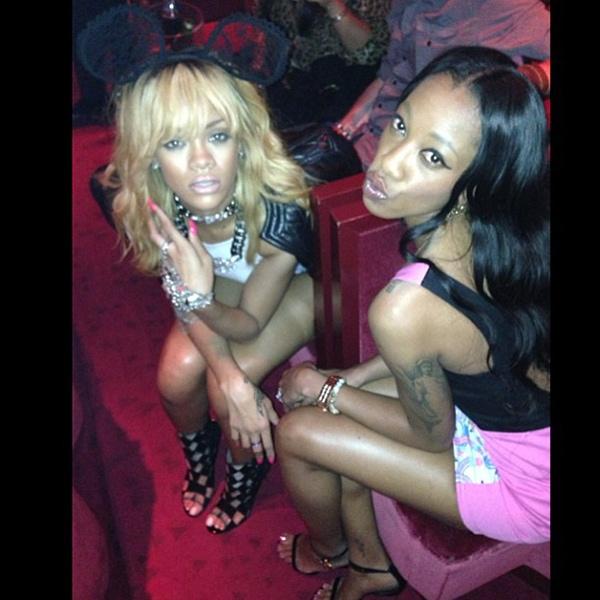 Rihanna Paris night out1