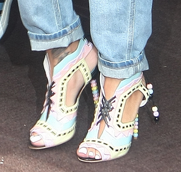 Rihanna wearing Sophia Webster Riri sandals
