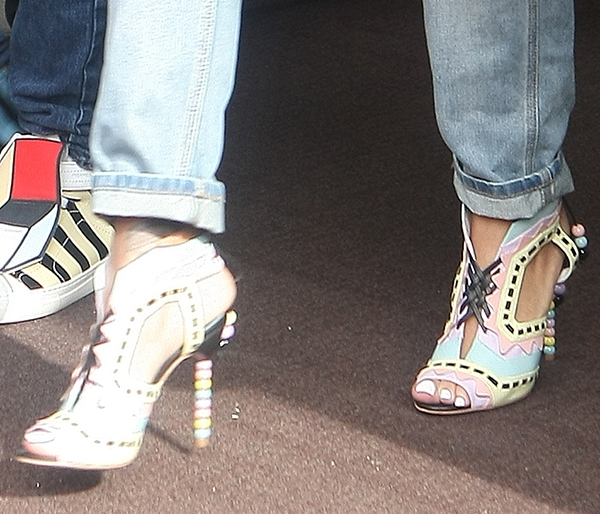 Rihanna wearing Sophia Webster Riri sandals