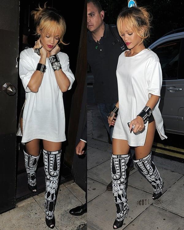 Rihanna at Cuckoo Club
