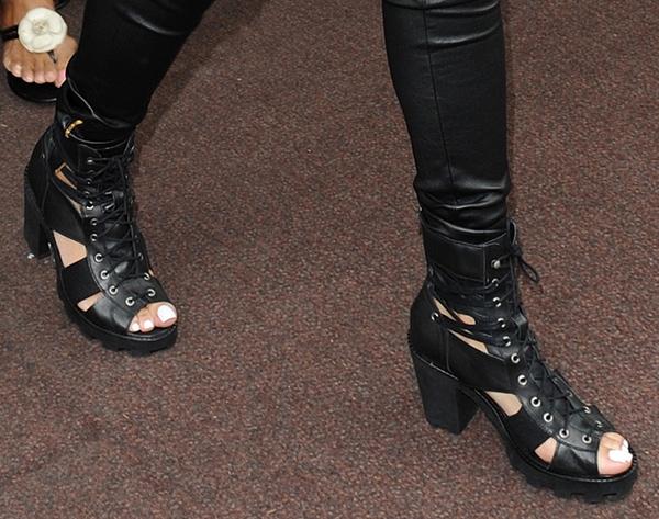 Rihanna's striking heels from River Island