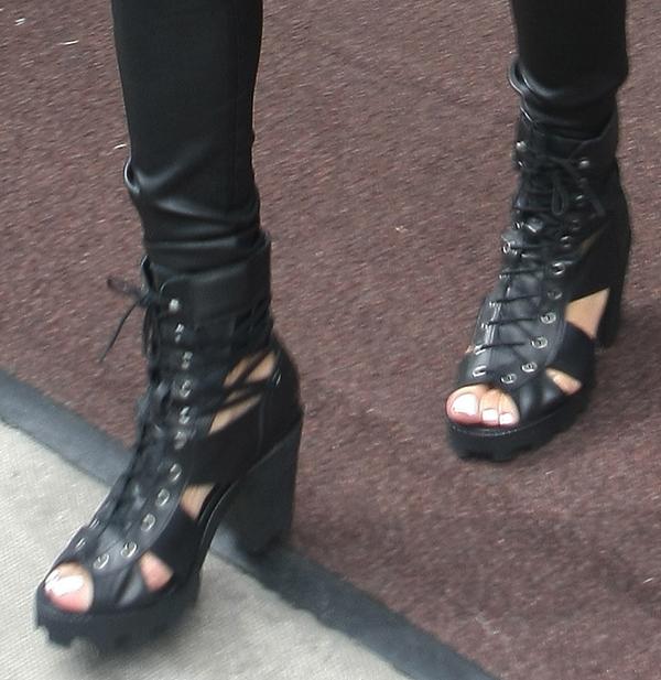 Rihanna's grunge-looking boots