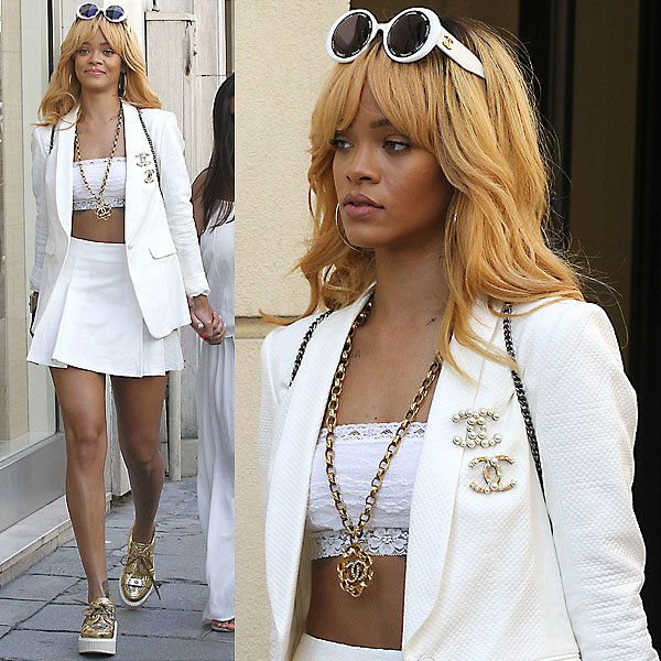 Rihanna made the head-to-toe Chanel outfit she wore on a recent Parisian shopping session all hers