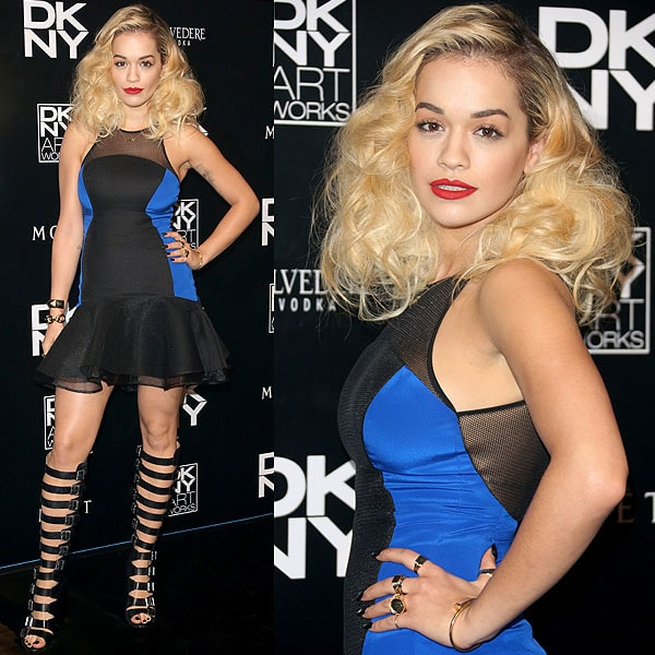 Rita Ora DKNY artworks launch
