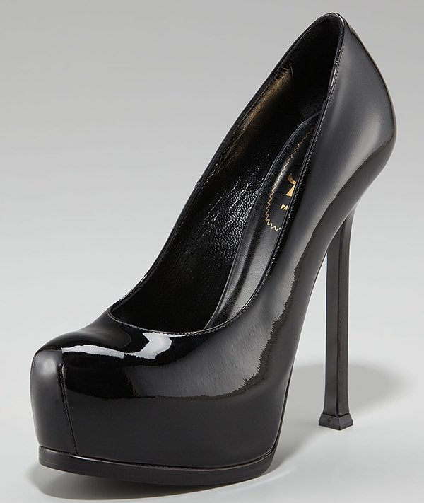Saint Laurent Tribtoo Patent Pumps in Black