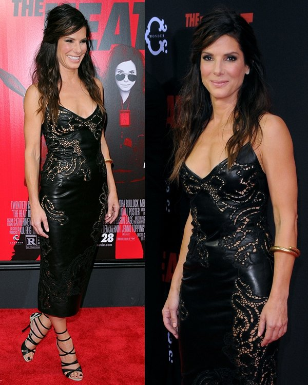 Sandra Bullock at the New York premiere of The Heat at the Ziegfeld Theatre in New York City on June 23, 2013