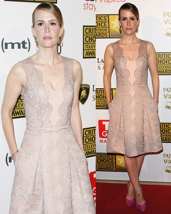 Sarah Paulson at Broadcast Television Journalists Association's (BTJA) 3rd Annual Critics' Choice Television Awards held at the Beverly Hilton Hotel in Los Angeles on June 10, 2013