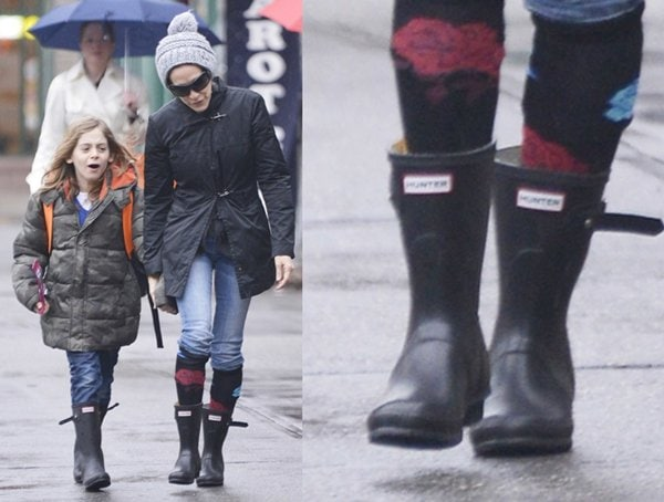 Sarah Jessica Parker takes her son to school in the West Village