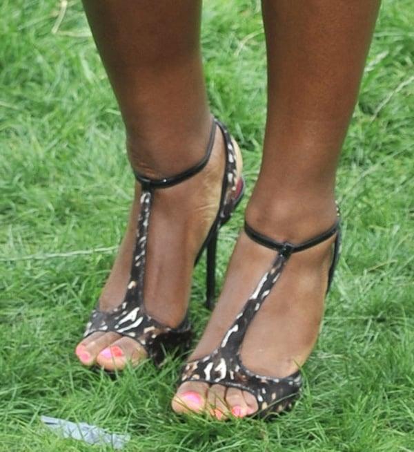 Serena Williams rocks animal print Burberry shoes