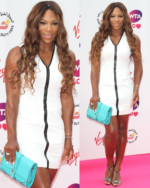 Serena Williams flaunts her hot legs at a pre-Wimbledon party