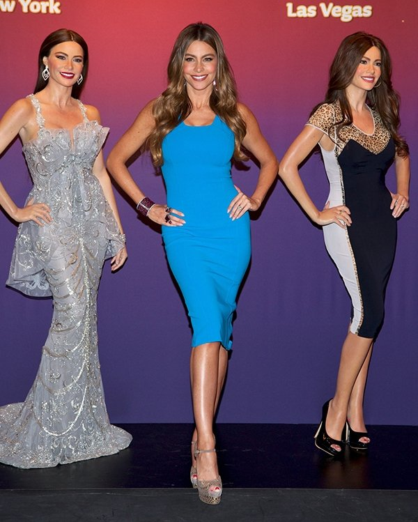 Sofia Vergara unveiling two Madame Tussauds wax figures in Times Square in New York City on June 4, 2013