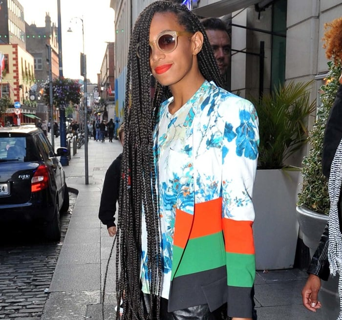 Solange Knowles wearing a birthday suit (literally) to celebrate her 27th birthday in Dublin, Ireland, on June 24, 2013