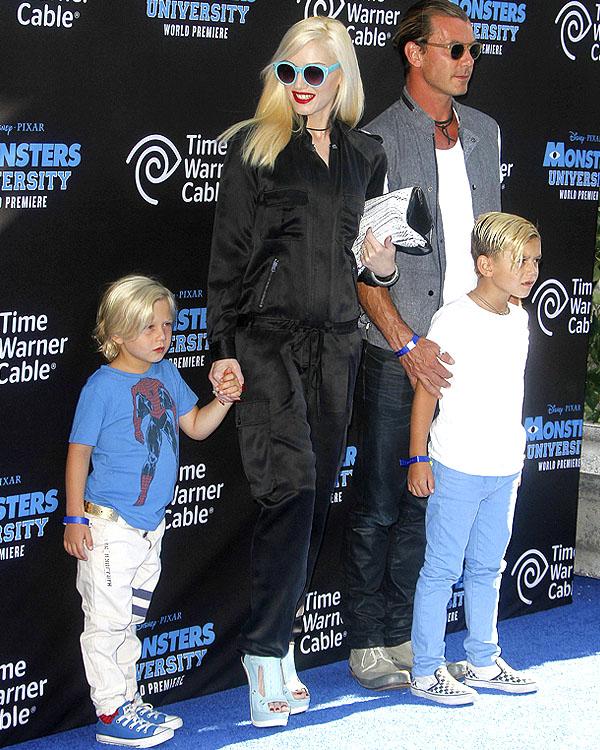 Stefani Rossdale family Monsters University premiere
